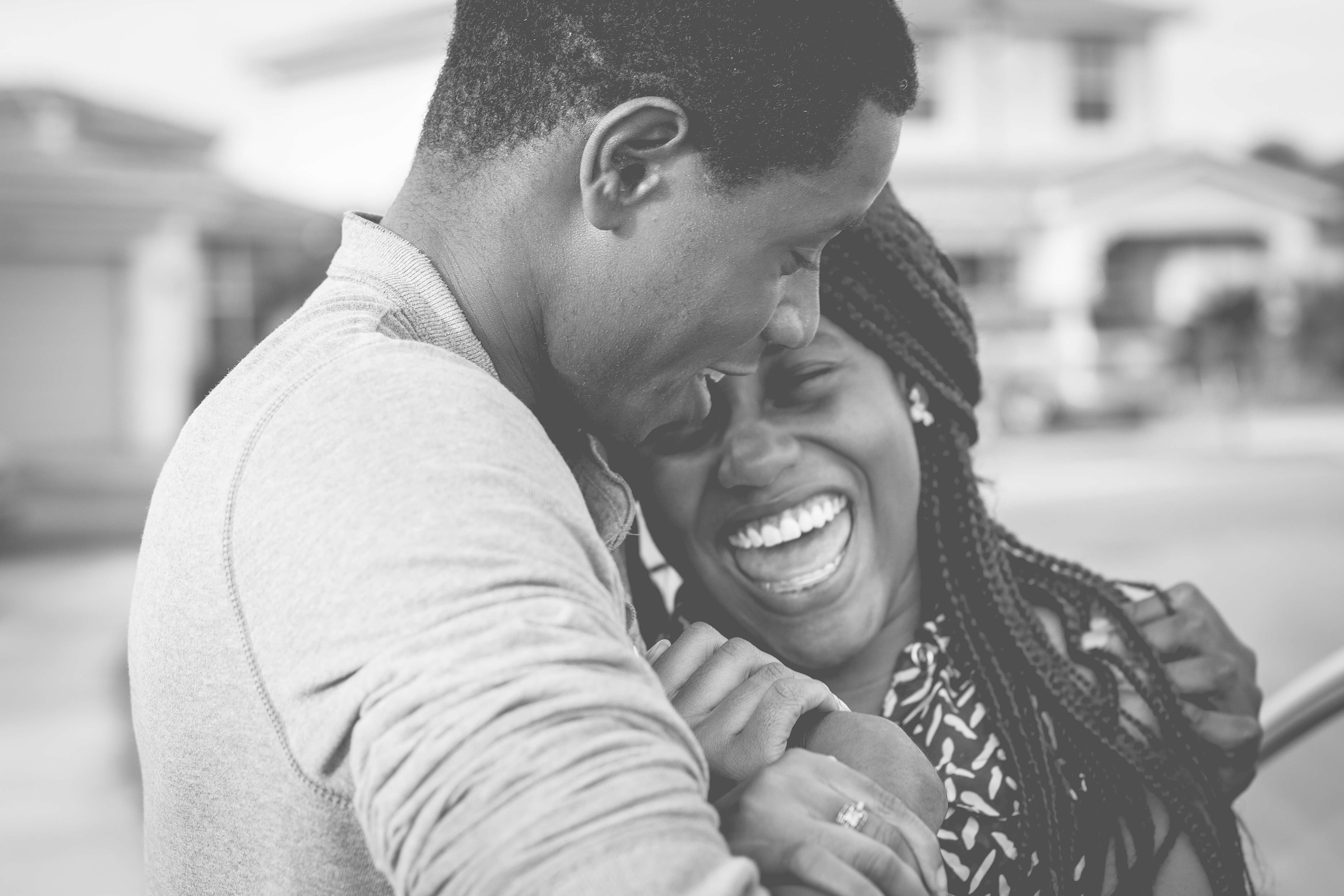Couple smiles after they sell structured settlement payments